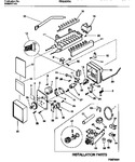 Diagram for 10 - Ice Maker  & Installation Component
