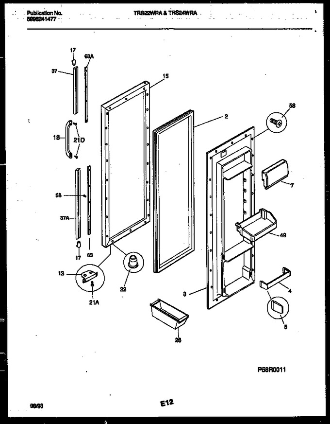 Diagram for TRS22WRAW0