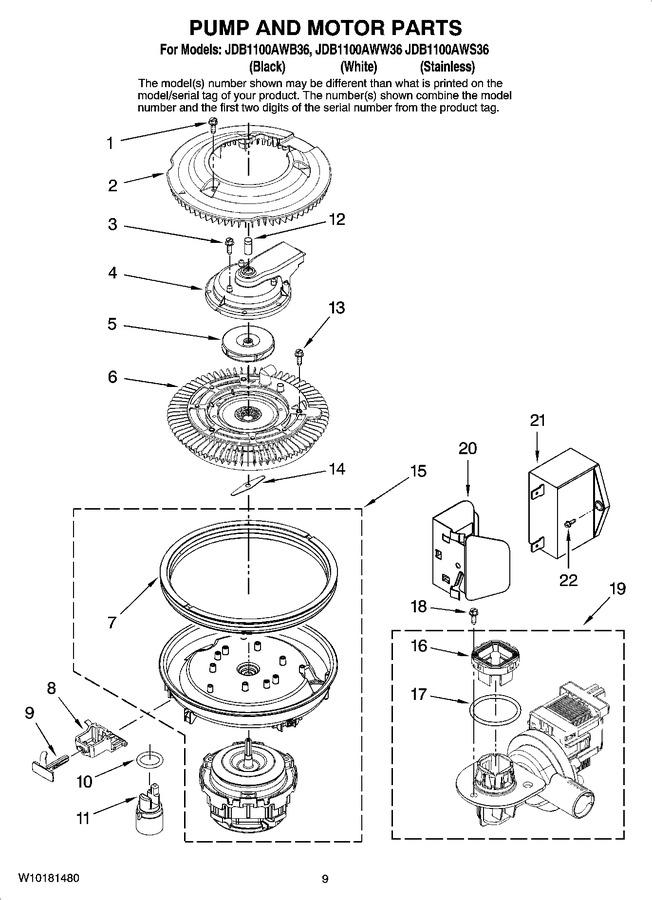 Diagram for JDB1100AWS36