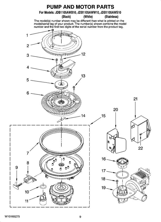 Diagram for JDB1105AWS10