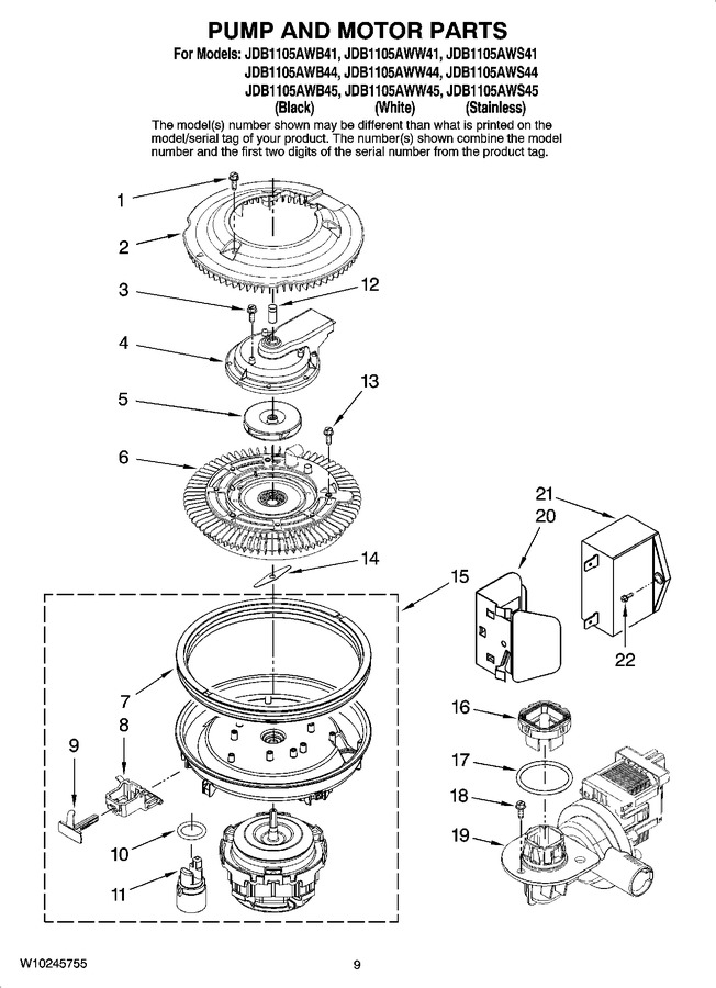 Diagram for JDB1105AWS41