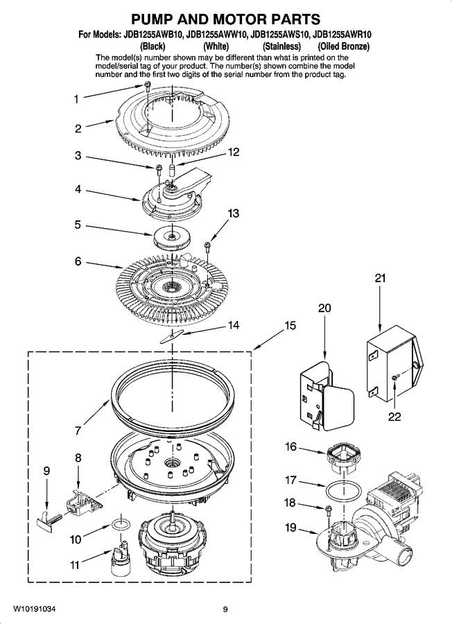Diagram for JDB1255AWR10