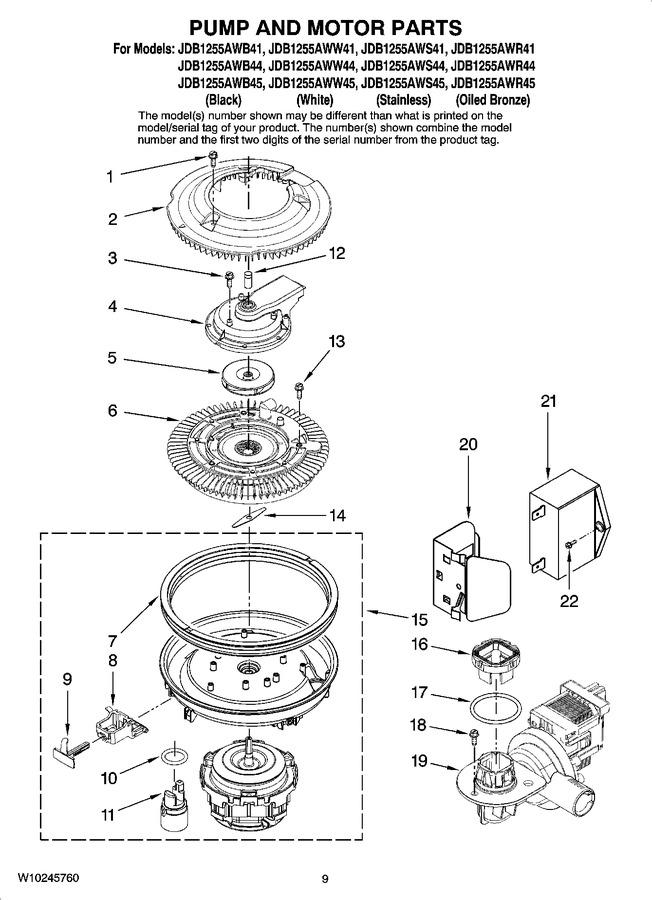 Diagram for JDB1255AWB41