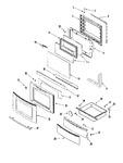 Diagram for 03 - Door/drawer (ser Pre 10)