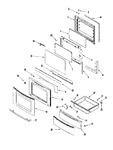 Diagram for 04 - Door/drawer (ser Pre 11)