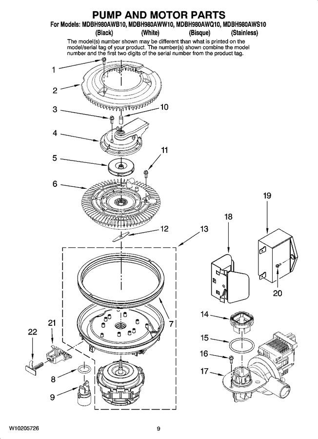 Diagram for MDBH980AWS10