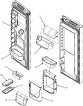 Diagram for 10 - Ref Door Storage