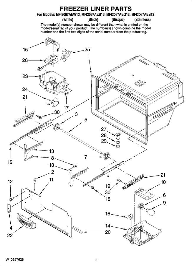 Diagram for MFI2067AEW13