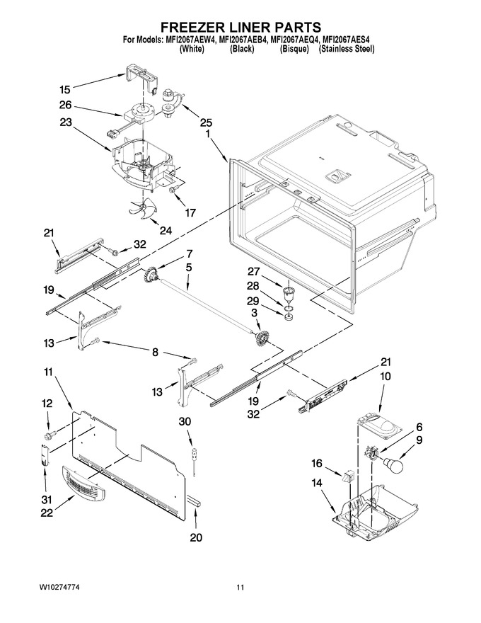 Diagram for MFI2067AES4