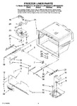 Diagram for 05 - Freezer Liner Parts