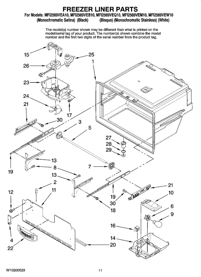 Diagram for MFI2569VEA10