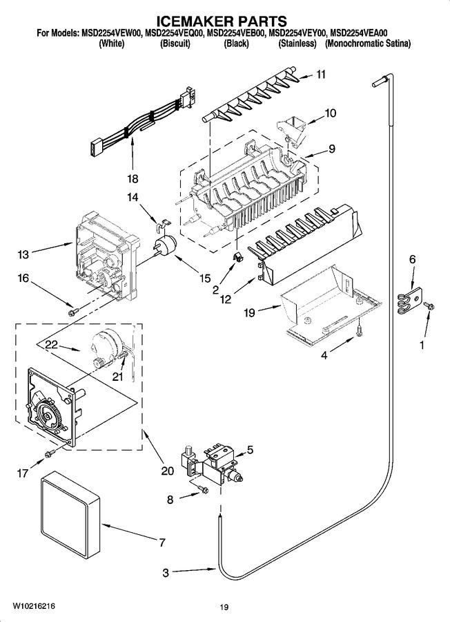 Diagram for MSD2254VEB00