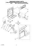 Diagram for 08 - Dispenser Front Parts