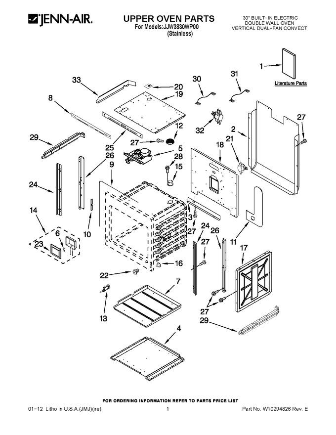 Diagram for JJW3830WP00