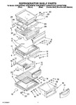 Diagram for 05 - Refrigerator Shelf Parts