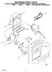 Diagram for 09 - Dispenser Front Parts