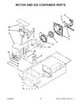 Diagram for 10 - Motor And Ice Container Parts