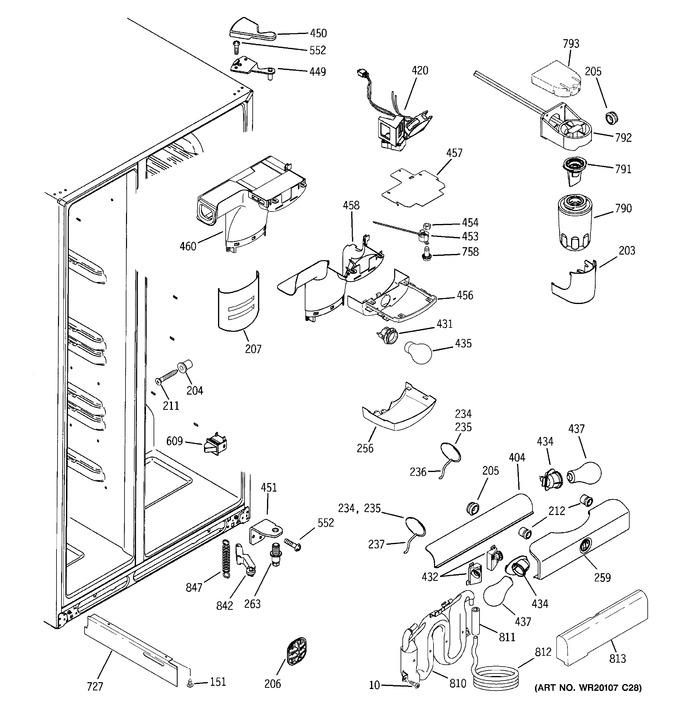 Diagram for GSF25KGWAWW