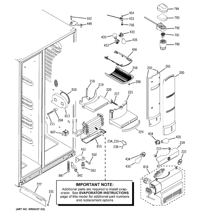 Diagram for PCF25PGWCBB