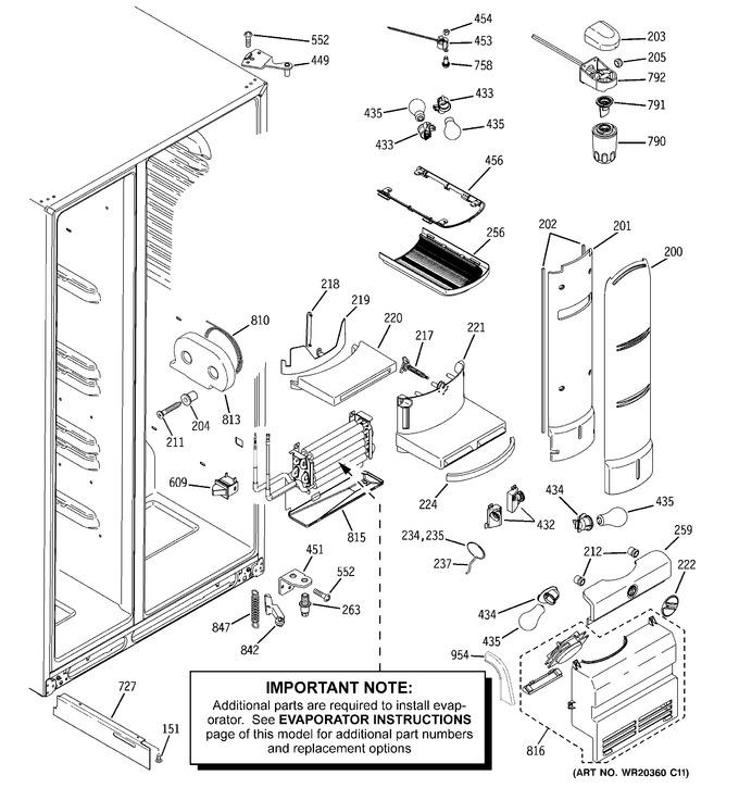 Diagram for PHE25TGXAFBB